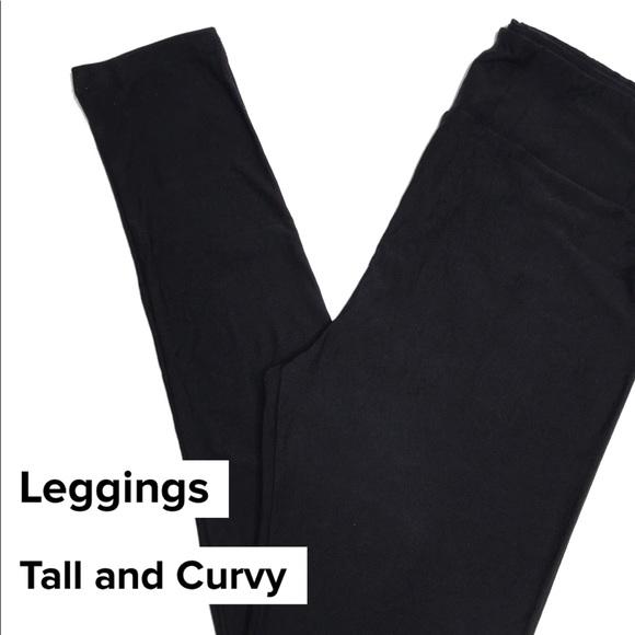 LULAROE TC TALL CURVY SOLID BLACK NOIR LEGGINGS NEW !!! Clothing, Shoes & Accessories Leggings